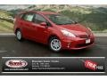 Barcelona Red Metallic 2012 Toyota Prius 3rd Gen Gallery