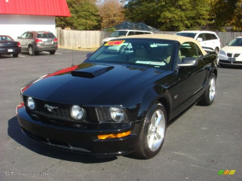 2007 Mustang GT Premium Convertible - Black / Medium Parchment photo #1