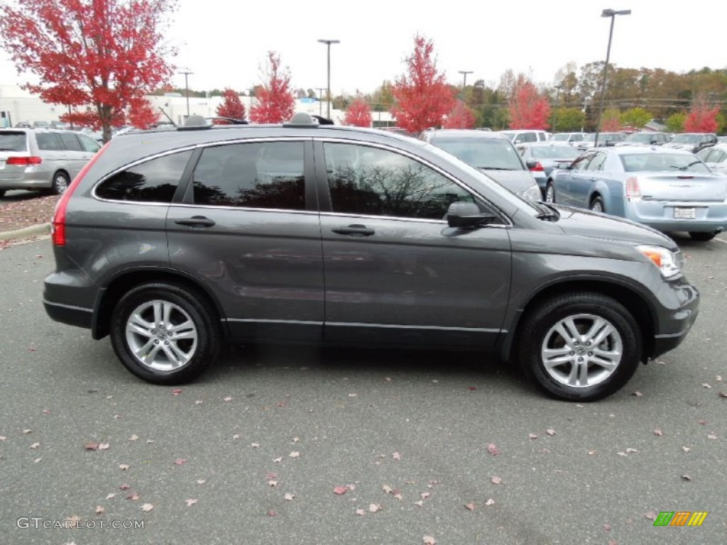 2011 CR-V EX - Polished Metal Metallic / Black photo #3