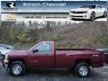 2013 Deep Ruby Metallic Chevrolet Silverado 1500 Work Truck Regular Cab 4x4  photo #1