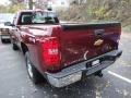 2013 Deep Ruby Metallic Chevrolet Silverado 1500 Work Truck Regular Cab 4x4  photo #2