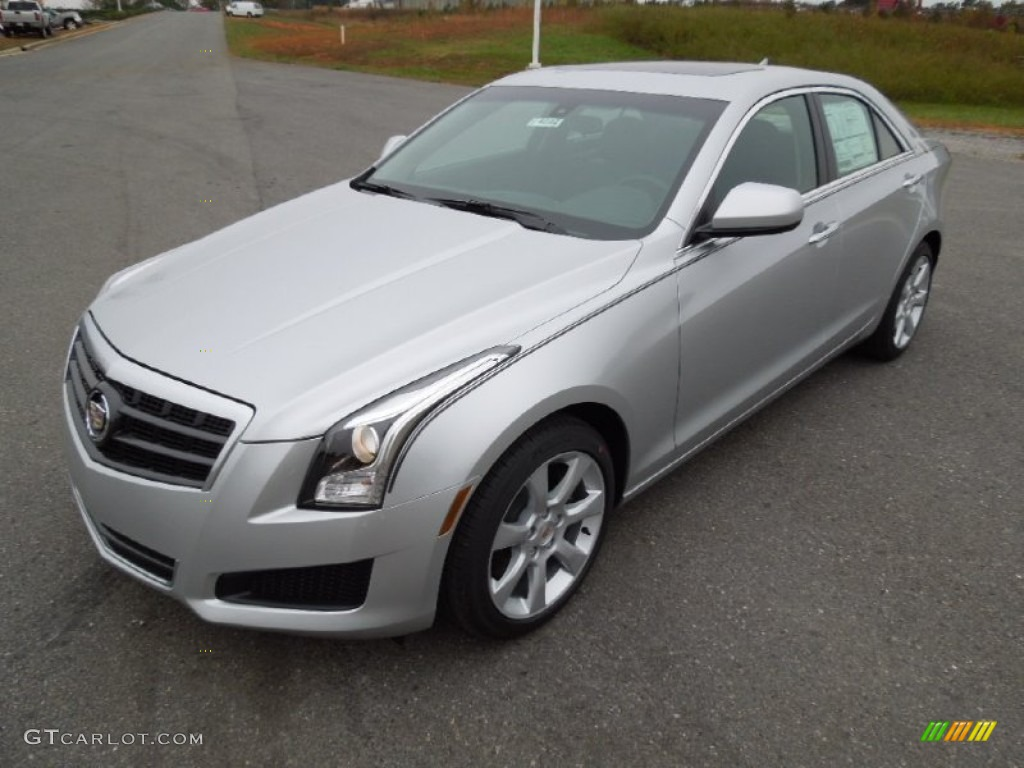 2013 radiant silver metallic cadillac ats 2 0l turbo 73180595 car color galleries. Black Bedroom Furniture Sets. Home Design Ideas