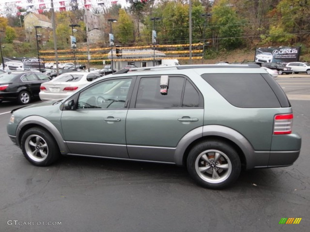 titanium green metallic 2008 ford taurus x sel awd. Black Bedroom Furniture Sets. Home Design Ideas