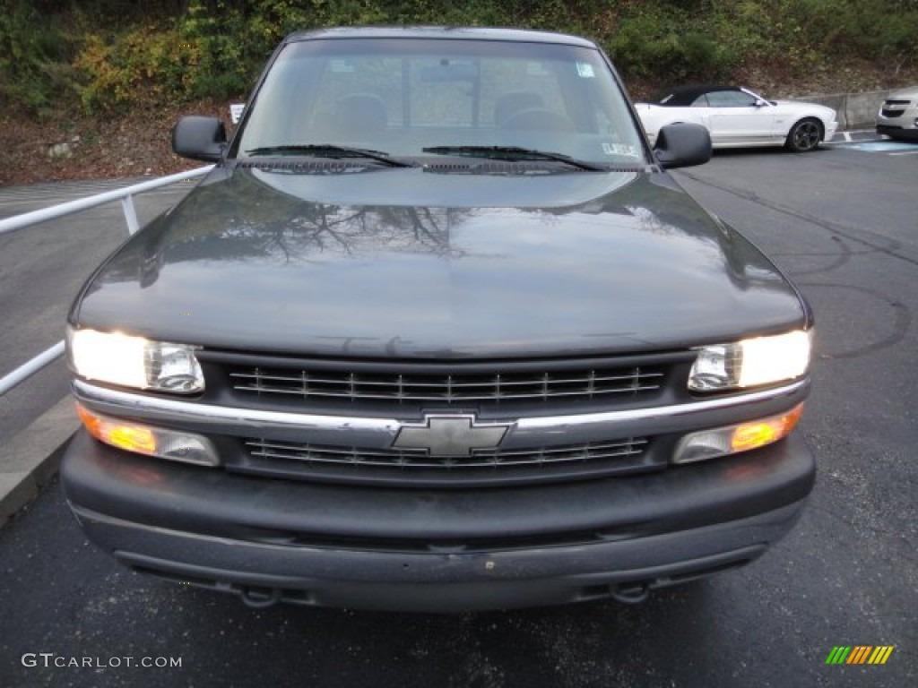 2000 Silverado 1500 Regular Cab 4x4 - Charcoal Gray Metallic / Graphite photo #15