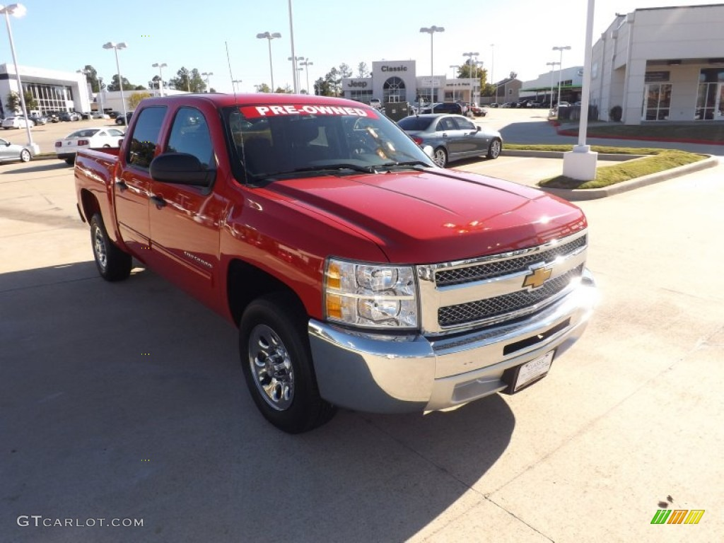 2012 Silverado 1500 LT Crew Cab - Victory Red / Ebony photo #7