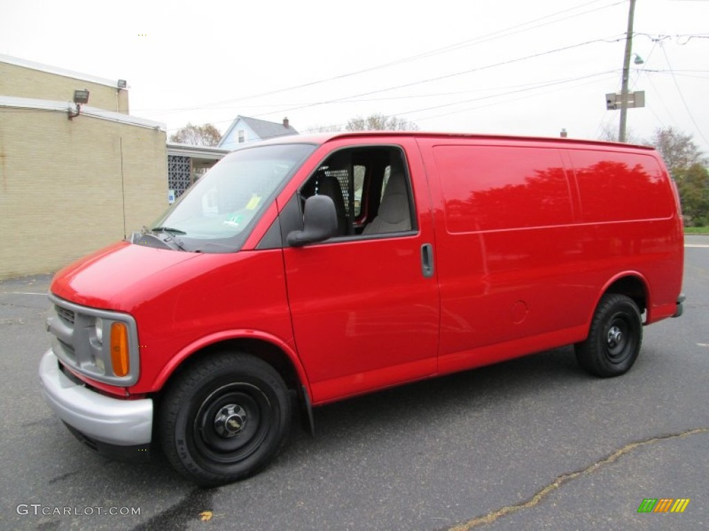 Victory red 2001 chevrolet express 2500 commercial van exterior photo 73272120