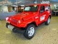 2012 Flame Red Jeep Wrangler Sahara 4x4  photo #2