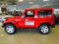 2012 Flame Red Jeep Wrangler Sahara 4x4  photo #3
