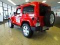 2012 Flame Red Jeep Wrangler Sahara 4x4  photo #4