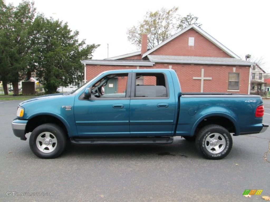 2001 ford f150 xlt supercrew 4x4 island blue metallic color medium. Cars Review. Best American Auto & Cars Review