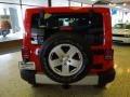 2012 Flame Red Jeep Wrangler Sahara 4x4  photo #5