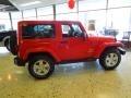 2012 Flame Red Jeep Wrangler Sahara 4x4  photo #6