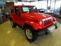 2012 Flame Red Jeep Wrangler Sahara 4x4  photo #23