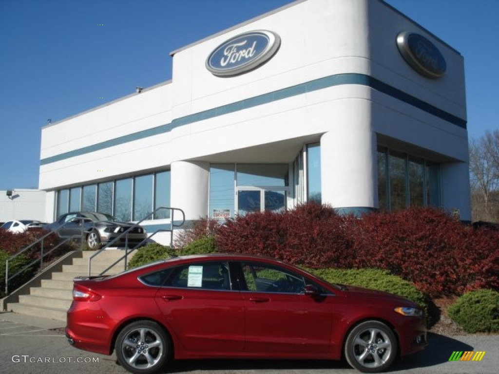 Ruby Red Metallic Ford Fusion