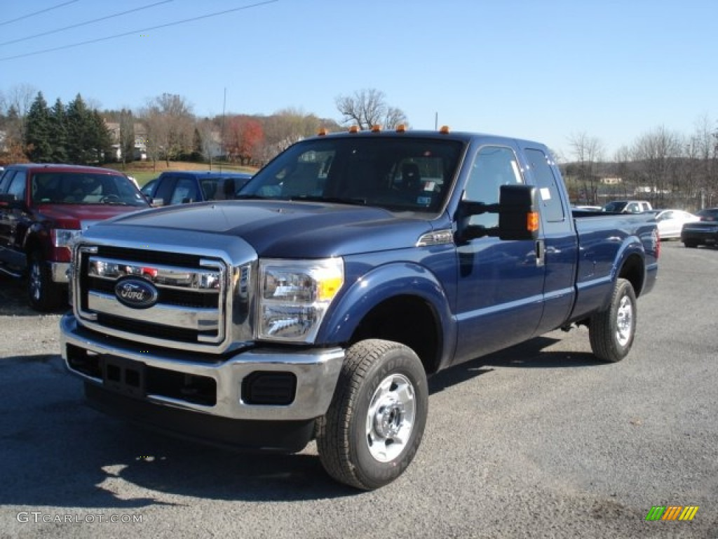 dark blue pearl metallic 2012 ford f250 super duty xlt supercab 4x4 exterior photo 73277556. Black Bedroom Furniture Sets. Home Design Ideas