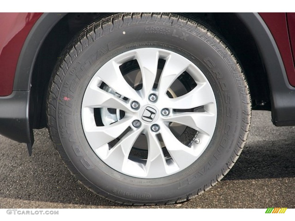 2013 CR-V EX - Basque Red Pearl II / Gray photo #7