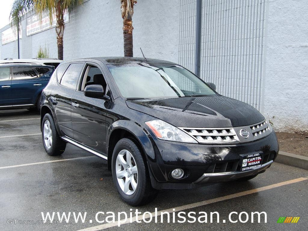 2007 Murano SE AWD - Super Black / Charcoal photo #1