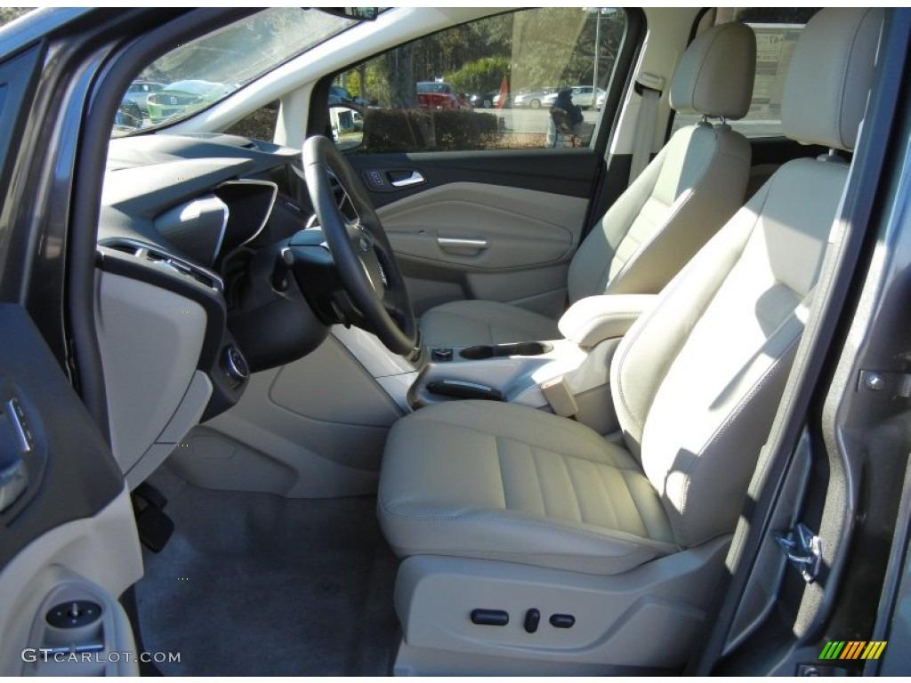 Medium Light Stone Interior 2013 Ford CMax Hybrid SEL Photo