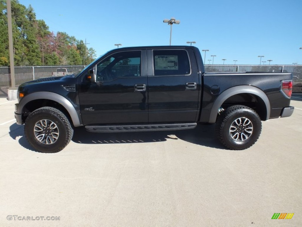 tuxedo black metallic 2013 ford f150 svt raptor supercrew 4x4 exterior photo 73316154. Black Bedroom Furniture Sets. Home Design Ideas