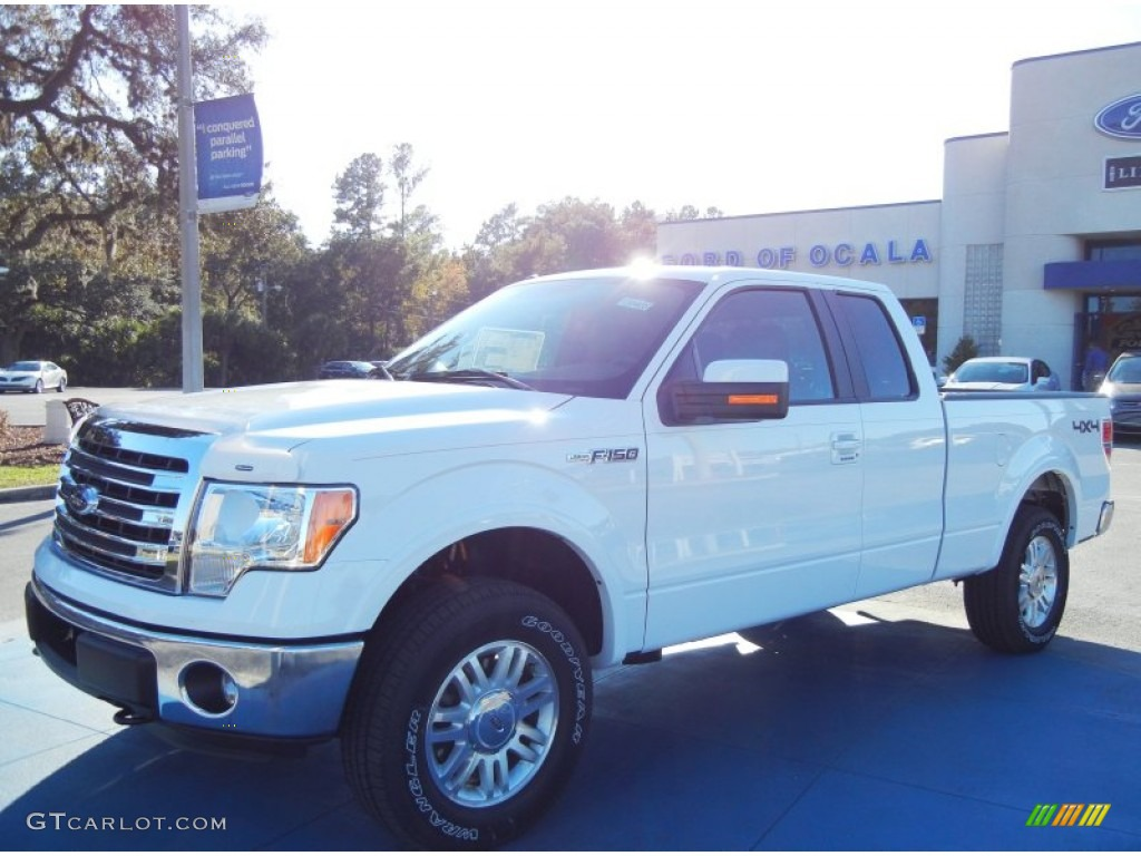2013 oxford white ford f150 lariat supercab 4x4 73347658 car color galleries. Black Bedroom Furniture Sets. Home Design Ideas