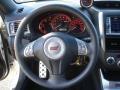 2010 Subaru Impreza Black Alcantara/Carbon Black Leather Interior Steering Wheel Photo