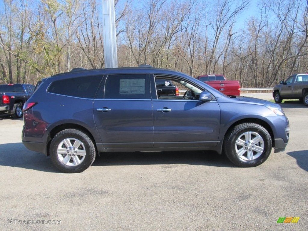 2013 atlantis blue metallic chevrolet traverse ltz awd 73347626 photo 6 car. Black Bedroom Furniture Sets. Home Design Ideas