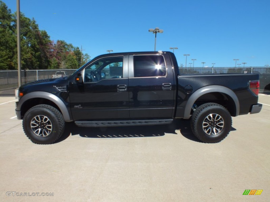 tuxedo black metallic 2013 ford f150 svt raptor supercrew 4x4 exterior photo 73393223. Black Bedroom Furniture Sets. Home Design Ideas