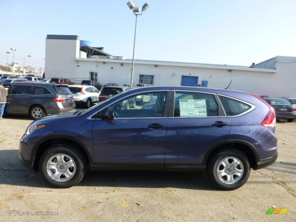 2013 CR-V LX AWD - Twilight Blue Metallic / Gray photo #1
