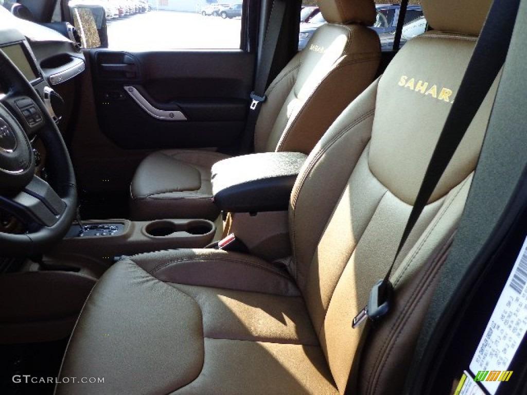 Black Dark Saddle Interior 2013 Jeep Wrangler Unlimited Sahara 4x4 Photo 73405709