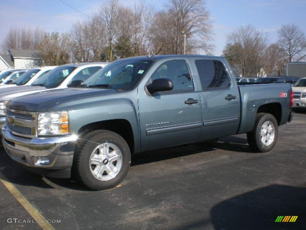 2012 Silverado 1500 LT Crew Cab 4x4 - Blue Granite Metallic / Ebony photo #1