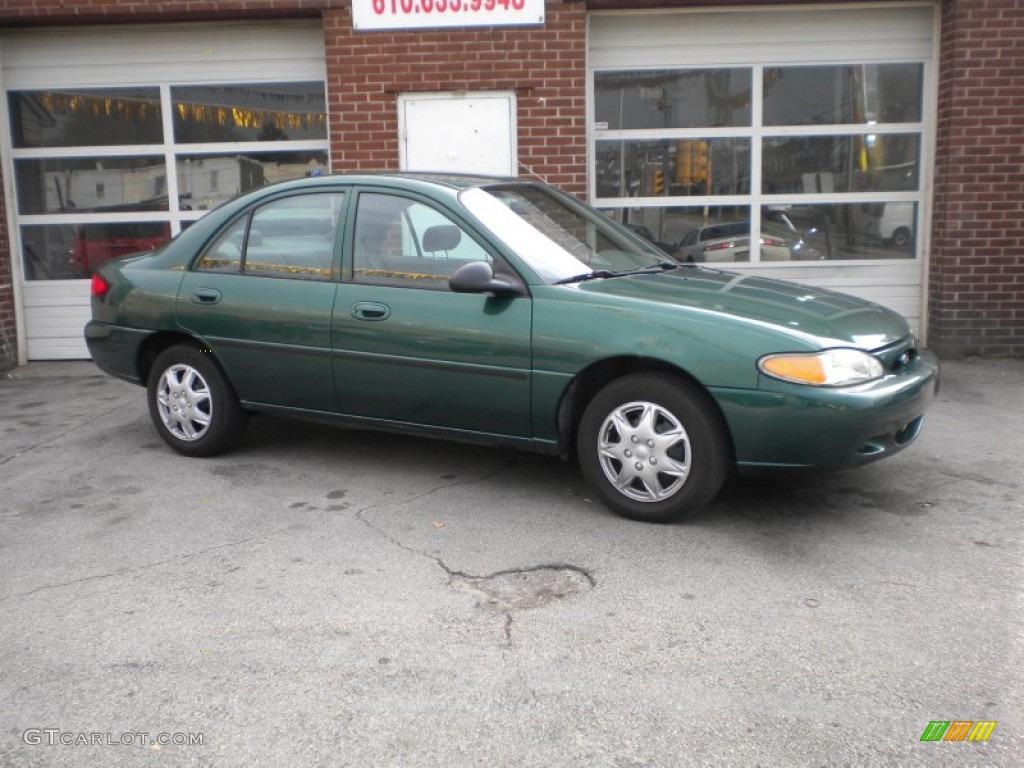 1999 tropic green metallic ford escort lx sedan 73440705 gtcarlot com car color galleries gtcarlot com