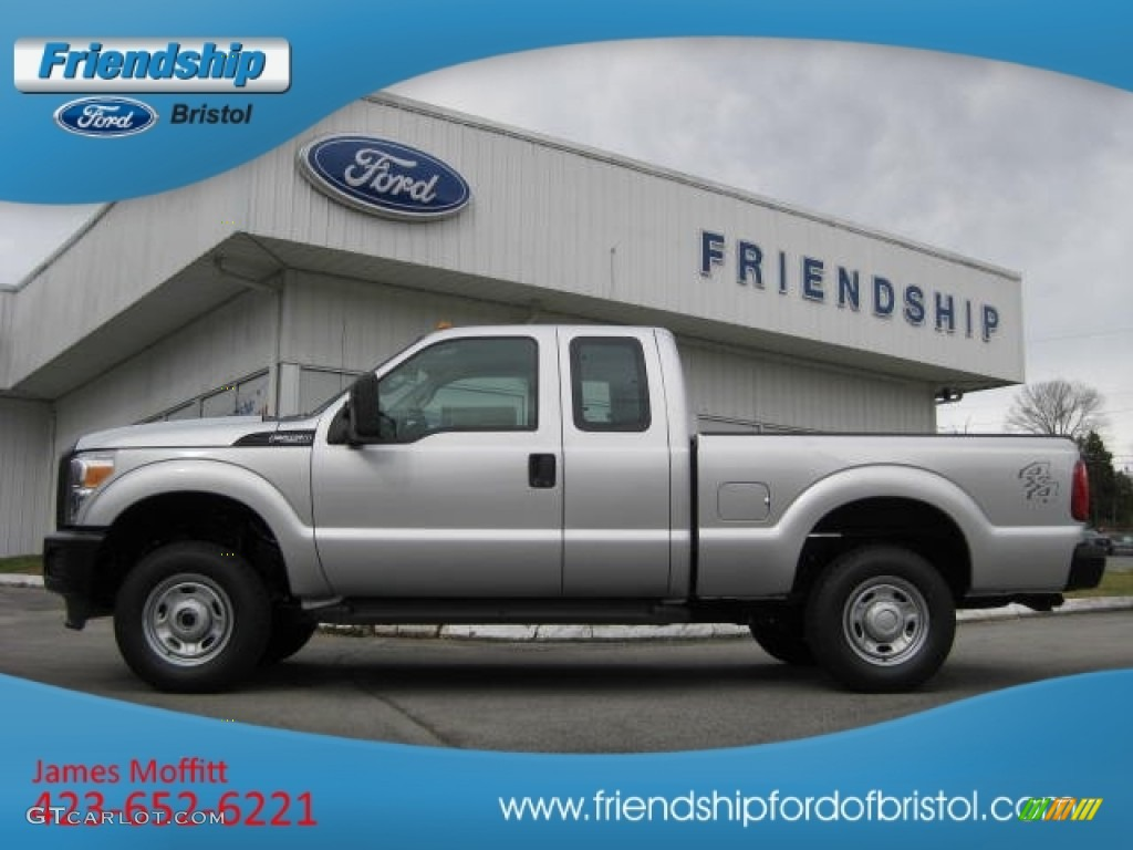 2012 F250 Super Duty XL SuperCab 4x4 - Ingot Silver Metallic / Steel photo #1