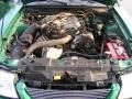 2000 Electric Green Metallic Ford Mustang V6 Coupe  photo #12