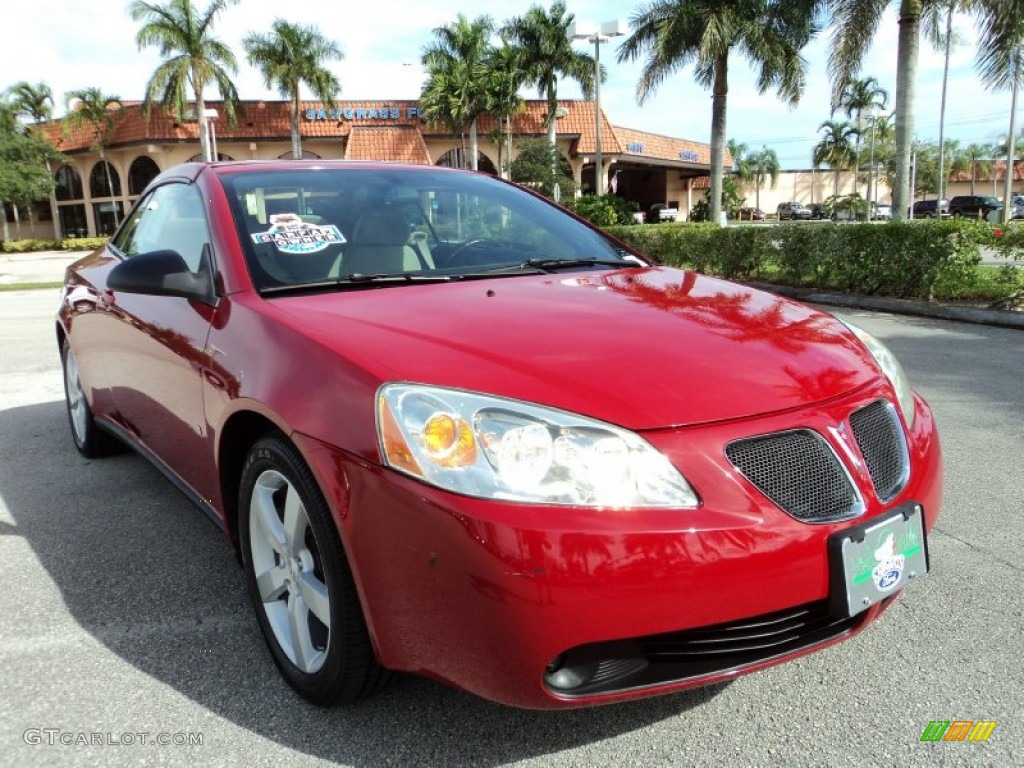 2007 performance red metallic pontiac g6 gt convertible 73484672 car color. Black Bedroom Furniture Sets. Home Design Ideas