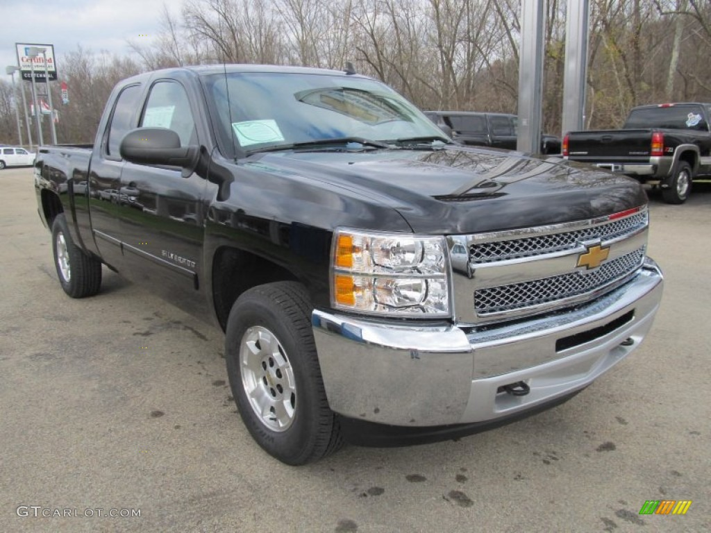 2013 Silverado 1500 LT Extended Cab 4x4 - Black / Ebony photo #10