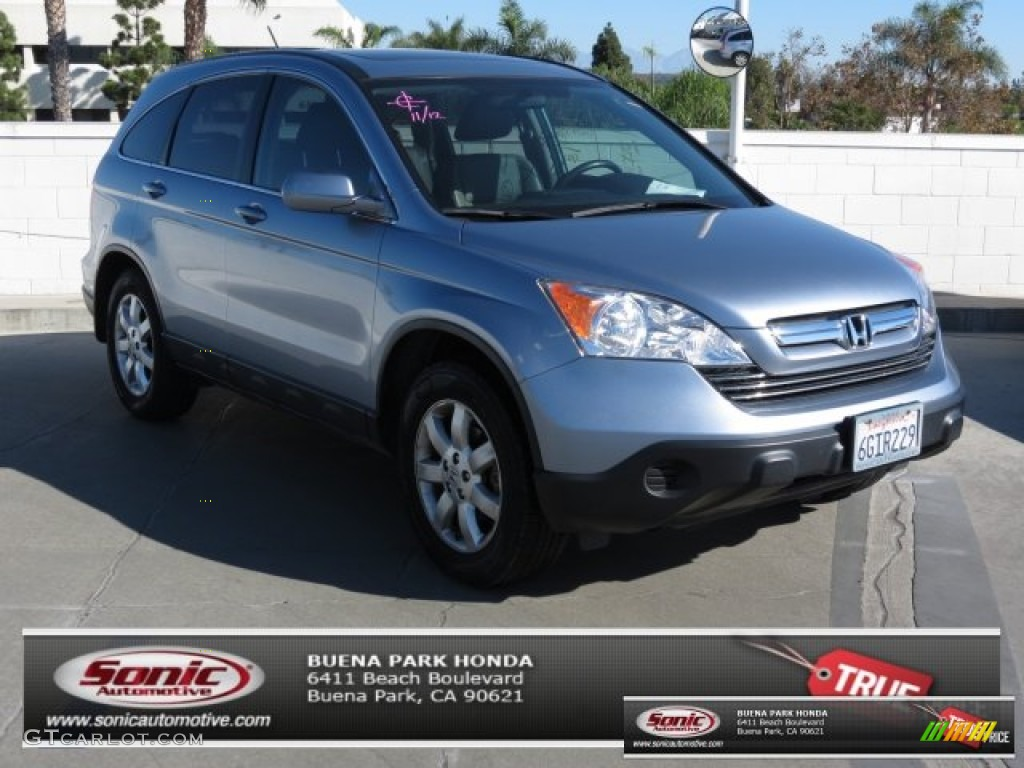 2009 CR-V EX-L - Glacier Blue Metallic / Gray photo #1