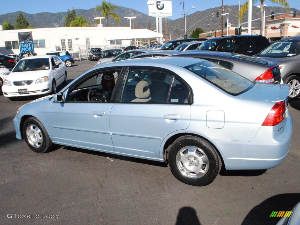 opal silver blue metallic 2003 honda civic hybrid sedan exterior photo 73516795. Black Bedroom Furniture Sets. Home Design Ideas