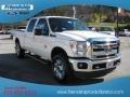 2012 White Platinum Metallic Tri-Coat Ford F250 Super Duty Lariat Crew Cab 4x4  photo #4