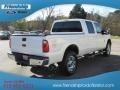2012 White Platinum Metallic Tri-Coat Ford F250 Super Duty Lariat Crew Cab 4x4  photo #6