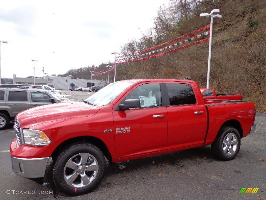 2013 flame red ram 1500 big horn crew cab 4x4 73484913 car color galleries. Black Bedroom Furniture Sets. Home Design Ideas