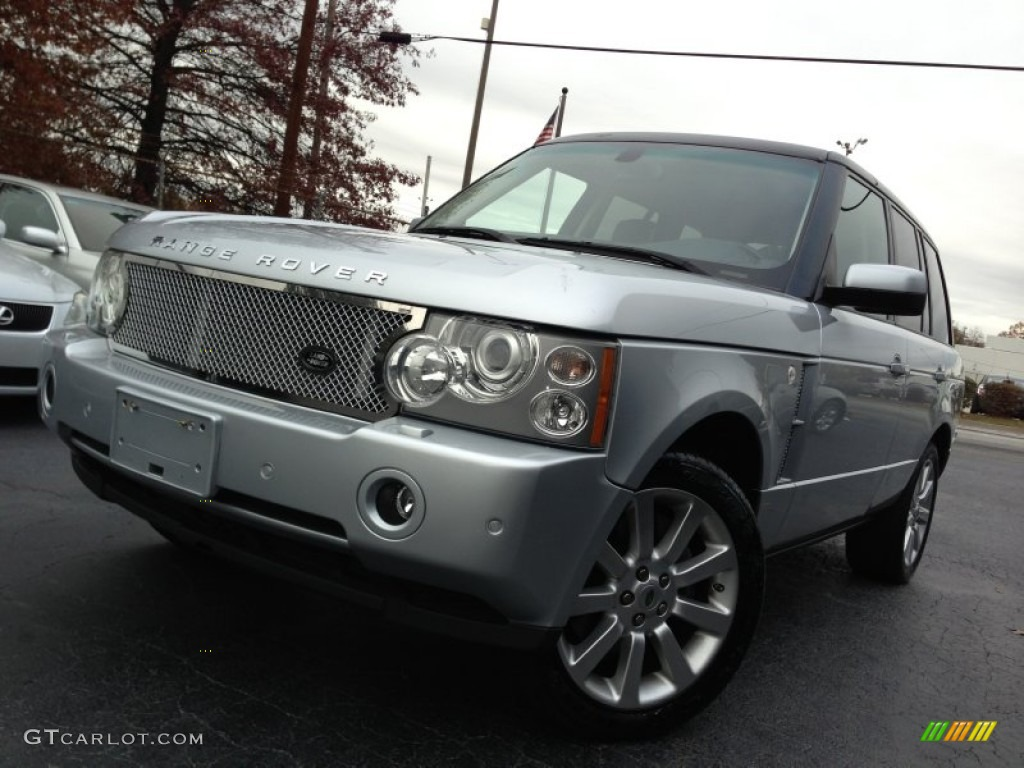 2007 Range Rover Supercharged - Zermatt Silver Metallic / Navy photo #1