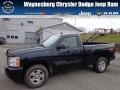 Dark Blue Metallic 2007 Chevrolet Silverado 1500 LT Z71 Regular Cab 4x4