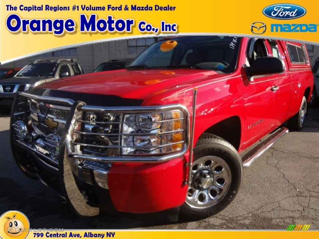 2009 Silverado 1500 LS Extended Cab - Victory Red / Light Cashmere photo #1