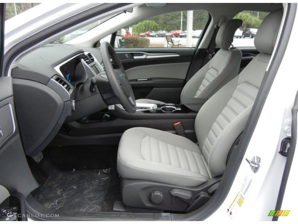 Earth Gray Interior 2013 Ford Fusion S Photo 73589666