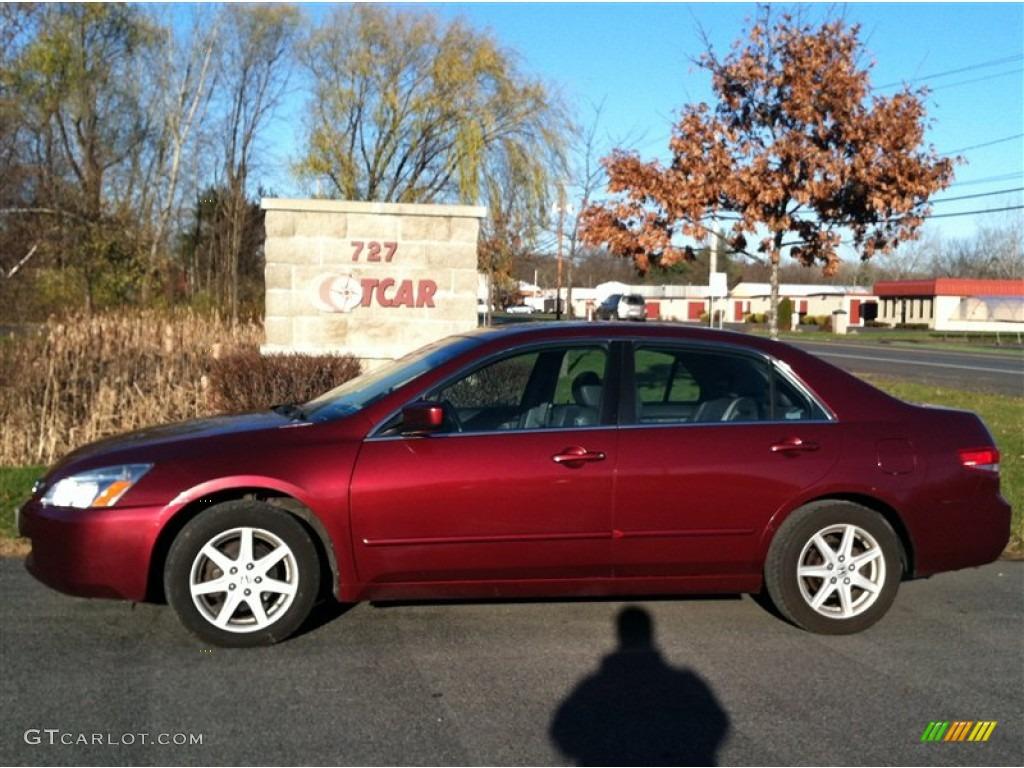 2004 Redondo Red Pearl Honda Accord Ex V6 Sedan 73581472