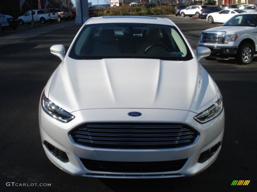 White Platinum Metallic Tri Coat 2013 Ford Fusion Se 1 6 Ecoboost Exterior Photo 73598741