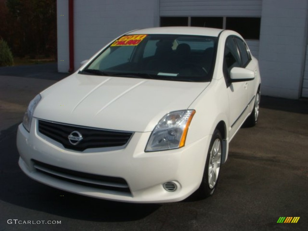 2011 Aspen White Nissan Sentra 2 0 S 73581778 Gtcarlot