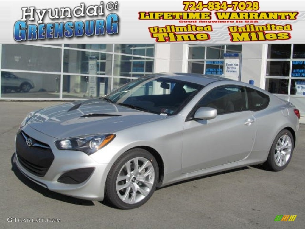 2013 Genesis Coupe 2.0T - Platinum Metallic / Black Cloth photo #1
