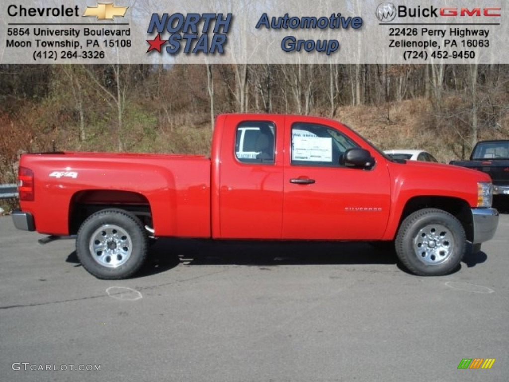 2013 Silverado 1500 LS Extended Cab 4x4 - Victory Red / Dark Titanium photo #1