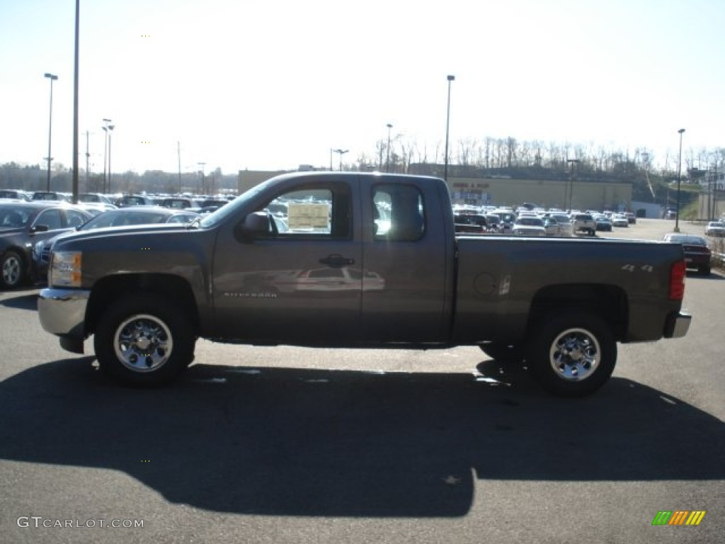 2013 Silverado 1500 LS Extended Cab 4x4 - Mocha Steel Metallic / Dark Titanium photo #5